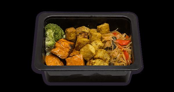 Mini menú saludable vegà i vegetarià de moniato amb tofu cousalut