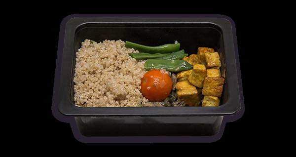 Mini menú de quinoa y tofu