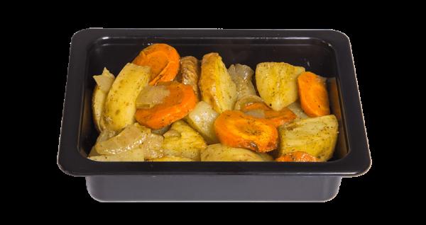 Patata, pastanaga i ceba al forn - Cousalut